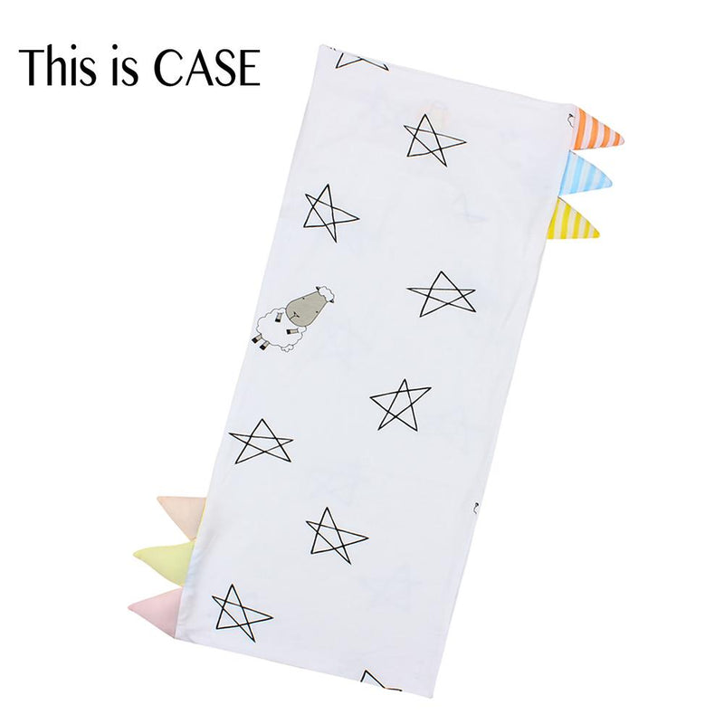 Bed-Time Buddy™ Case Big Star & Sheepz White with Color & Stripe tag - Medium