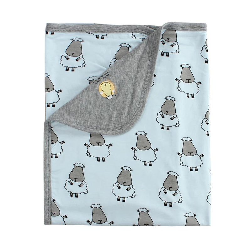 Double Layer Blanket Big Sheepz Blue Kids