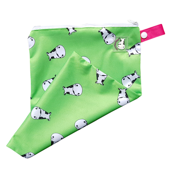 Lucky Bag - Wet Bag Lucky Kow Green - M
