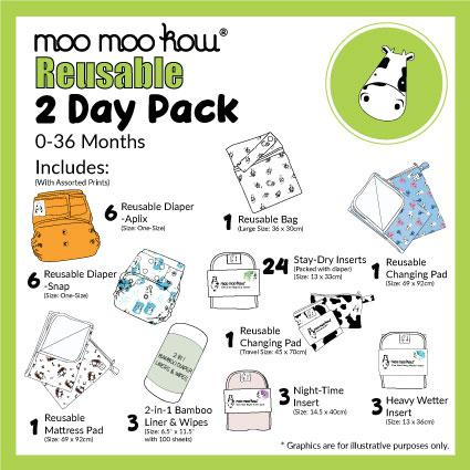 Moo Moo Kow® - Reusable 2 Day Package