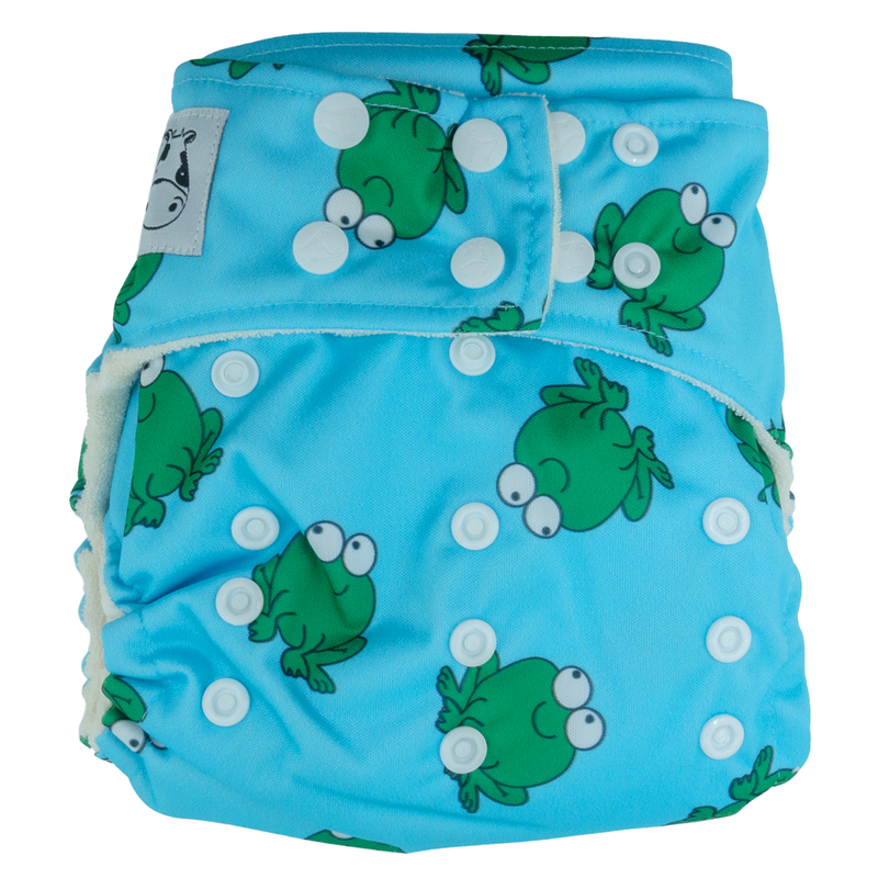 BAMBOO Cloth Diaper One Size Snap - Lucky Frok