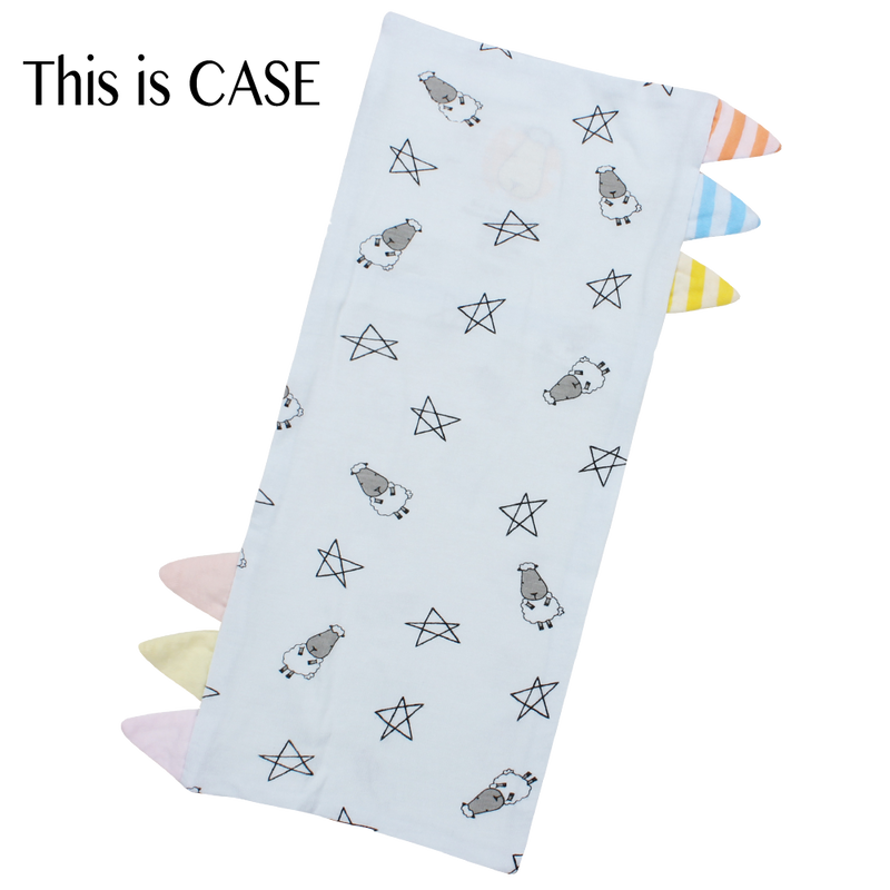 Bed-Time Buddy™ Case Small Star & Sheepz Blue with Color & Stripe tag - Medium