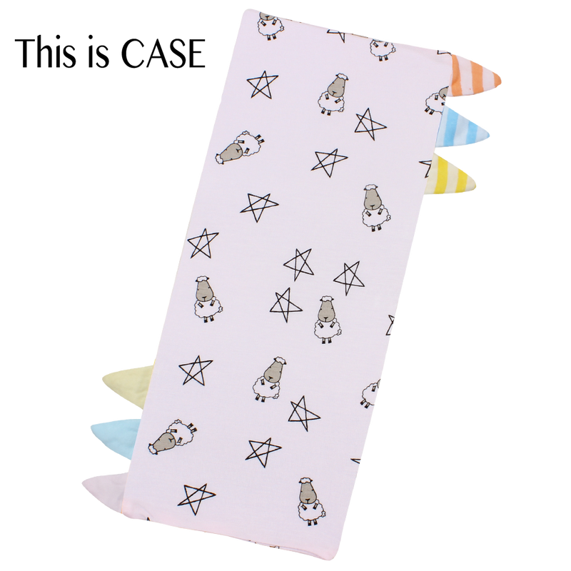 Bed-Time Buddy™ Case Small Star & Sheepz Pink with Color & Stripe tag - Medium