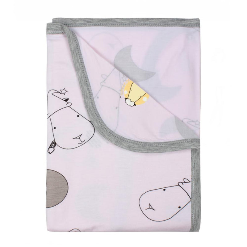 Single layer Blanket Big Moon & Sheepz Pink - 36M