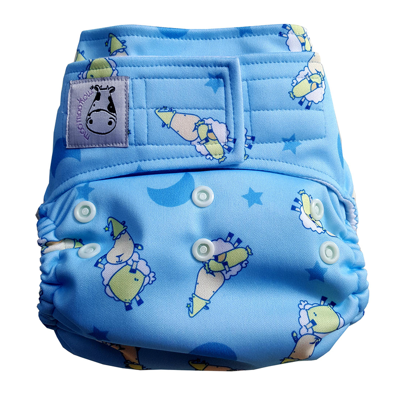 Cloth Diaper One Size Aplix - BaaBaaSheepz Blue