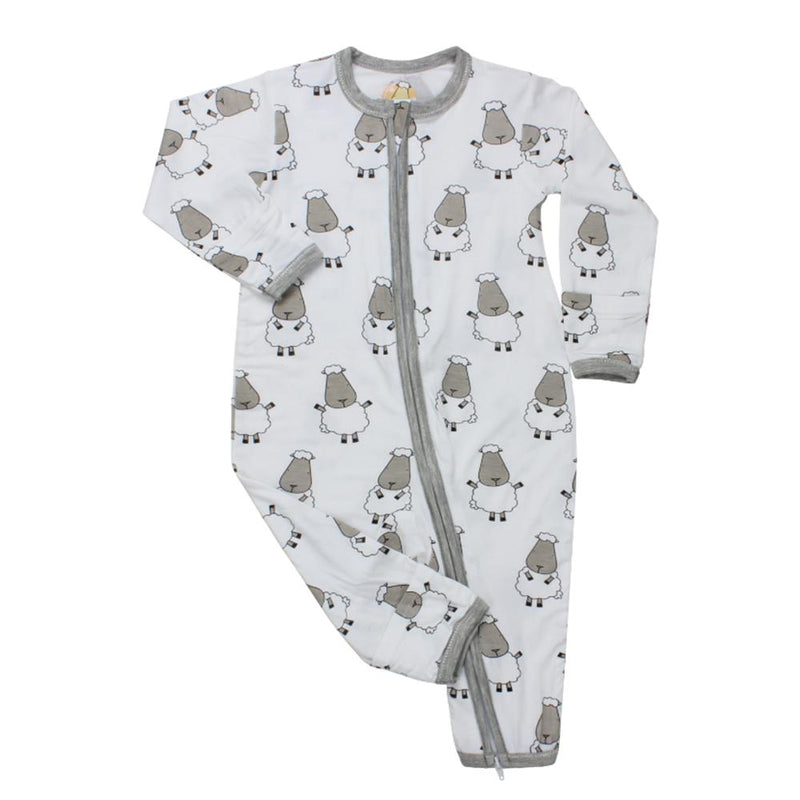 Romper Zip White Big Sheep