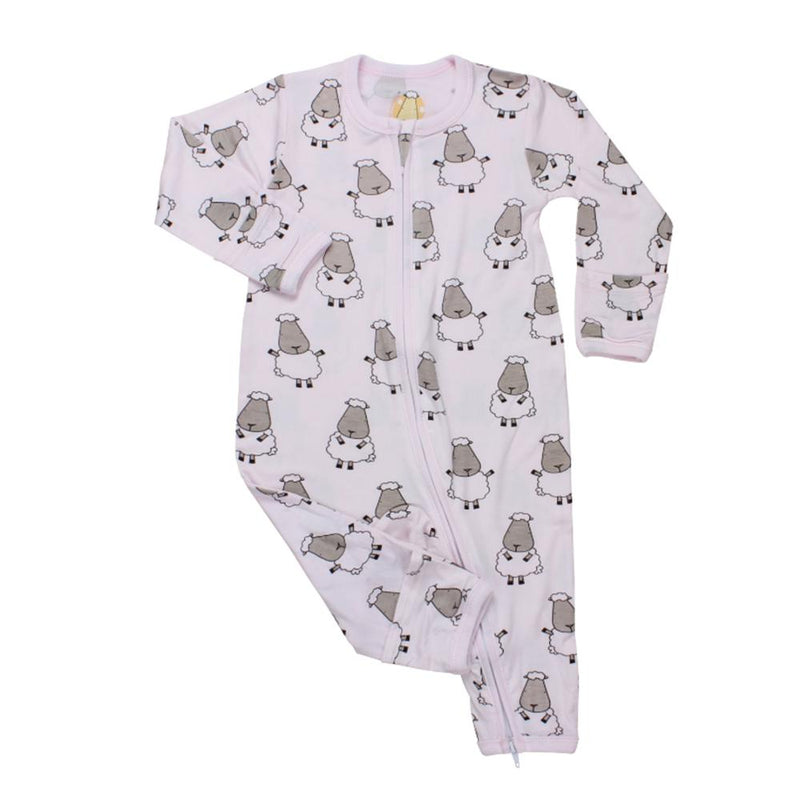 Romper Zip Pink Big Sheep