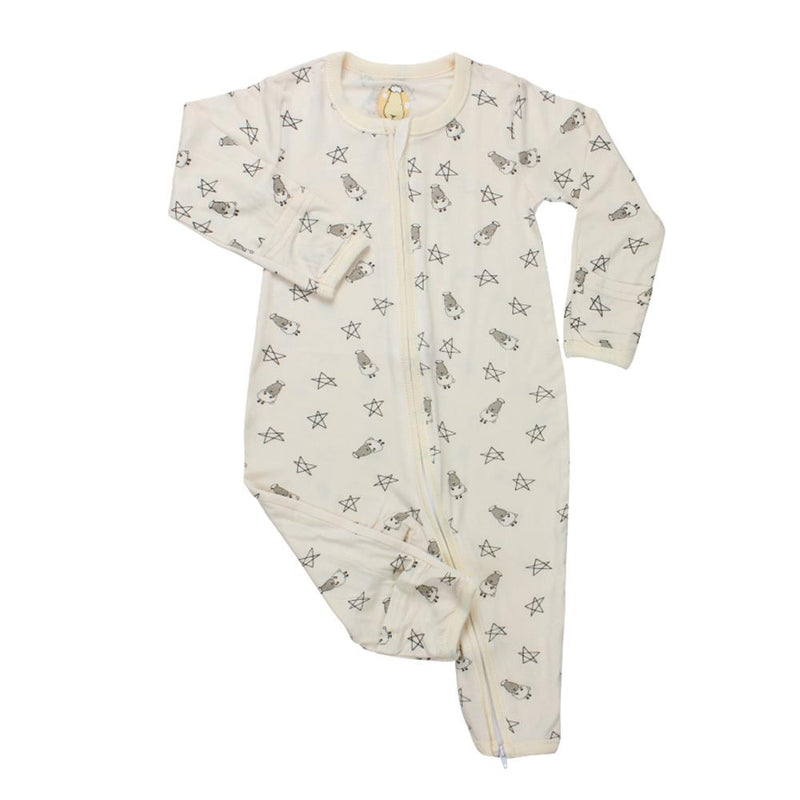 Romper Zip Yellow Small Sheep & Stars