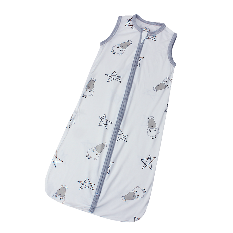 Wearable Blanket Zip White Big Star & Sheepz