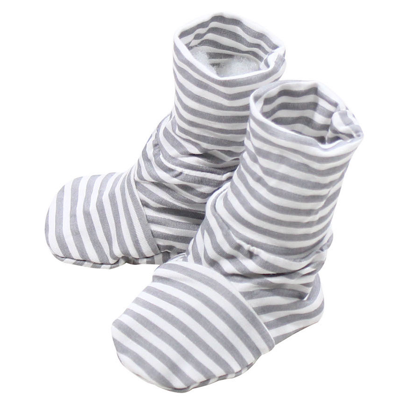 baabaasheepz Booties Grey Stripe
