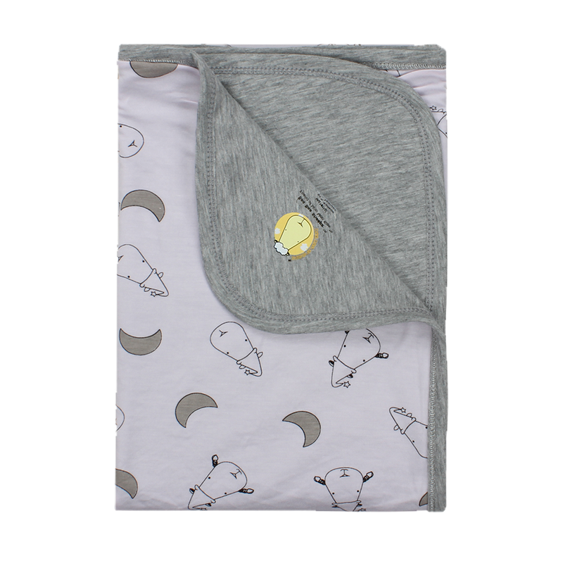 Double Layer Blanket Small Moon & Sheepz Pink - 36M