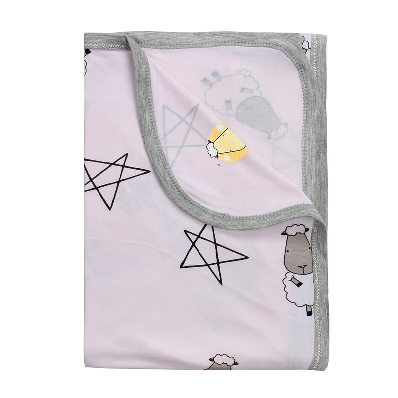Single Layer Blanket Big Star & Sheepz Pink - 36M