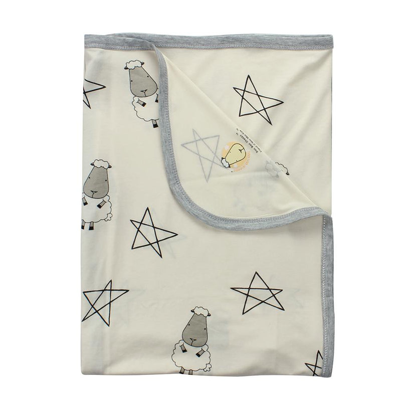 Single Layer Blanket Big Star & Sheepz Yellow - 36M