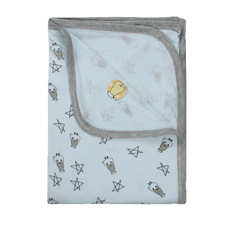Single Layer Blanket Small Star & Sheepz Blue - 4T