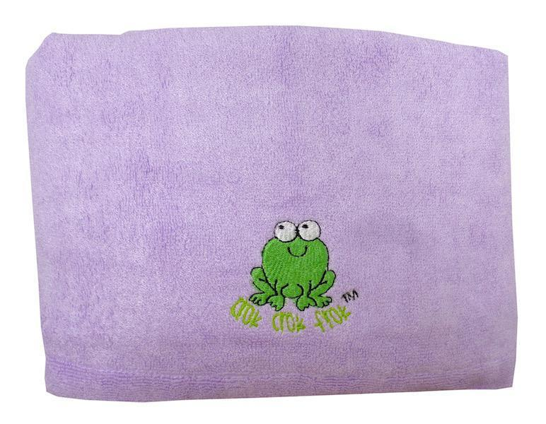 CrokCrokFrok Bamboo Towel for Kids & Adult - Purple - Large