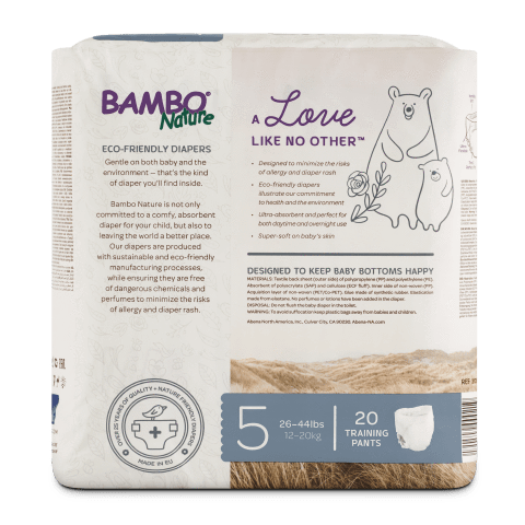 Bambo Nature Training Pants XL (12-20kg) [5 packs, 100pcs/ 5packs]