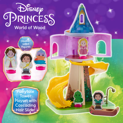 Disney Princess Wooden Rapunzel's Tower & Figure Playset