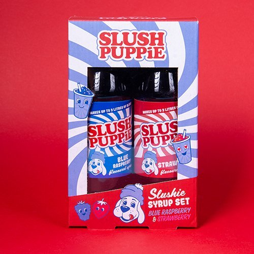 Slush Puppie Syrup - Twin Pack - Blue Raspberry, Strawberry - Pre Order