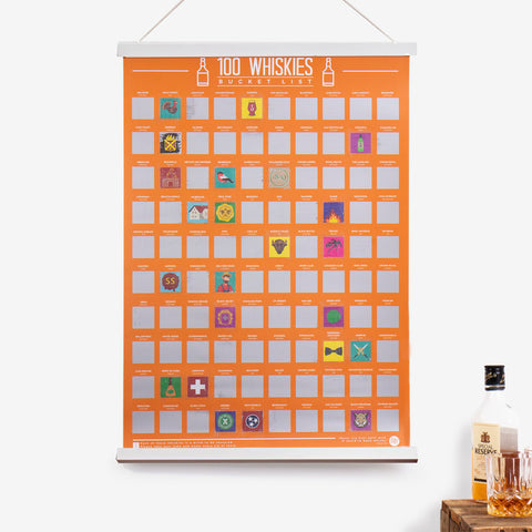 100 Whiskies Scratch Off Bucket List