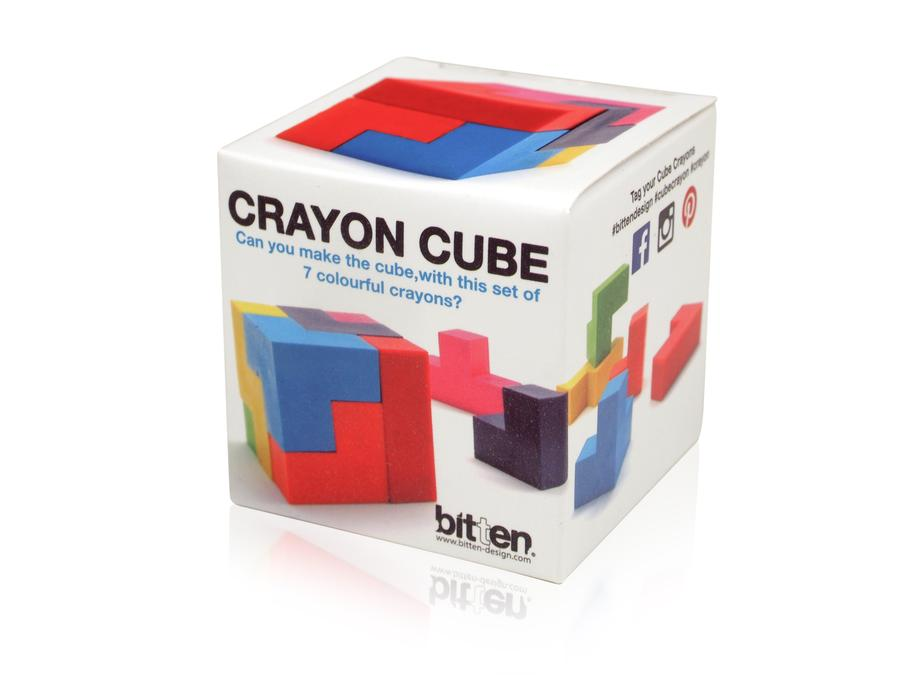 Cube Puzzle Crayon, set of 7, with display box