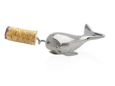 Narwhal Bottle Opener and Corkscrew Silver