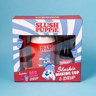 Slush Puppie Making Cup And Cherry Syrup Set - Pre Order