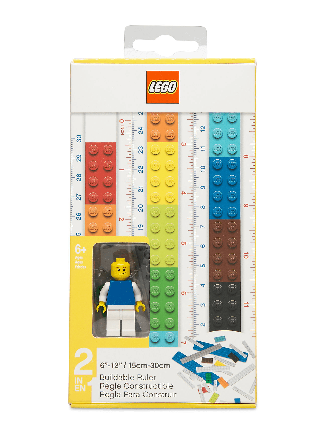LEGO® 2-in-1 Buildable Ruler With Minifigure