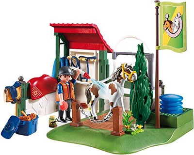 Playmobil Country Horse Grooming Station with Functional Water Pump