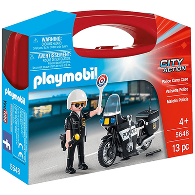 Playmobil City Action Collectable Small Police Carry Case