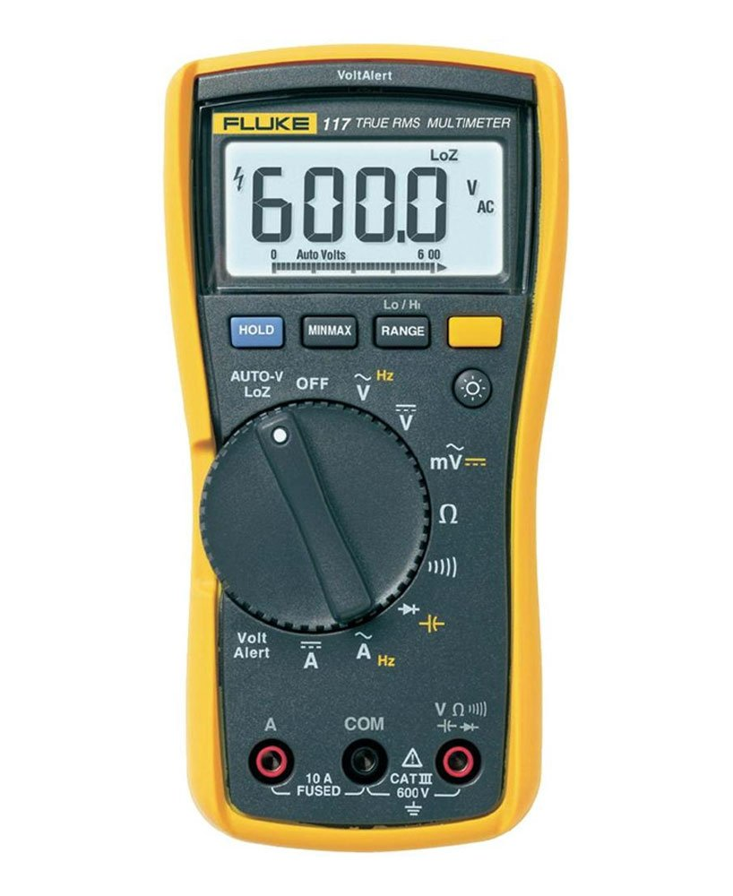Fluke 117 Digital Multimeter LCD, 6000 counts CAT III 600 V