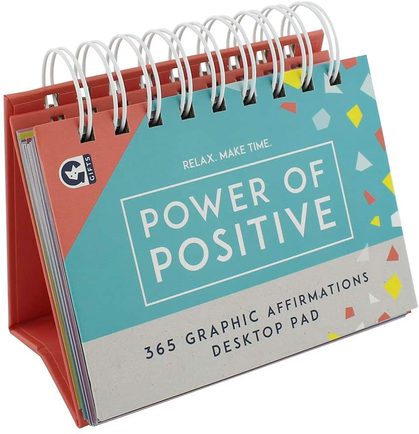 Relax Make Time 365 Days Of Positive Affirmations Desk Pad
