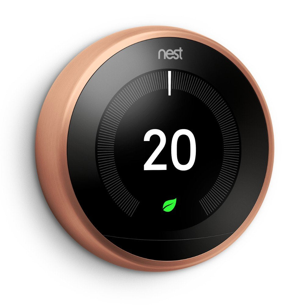 Google Nest Learning Thermostat 3rd Generation - Copper