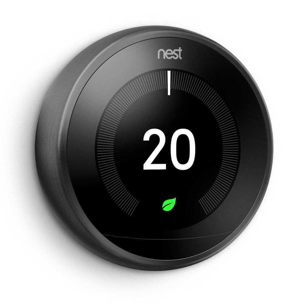 Google Nest Learning Thermostat Third Generation - Black