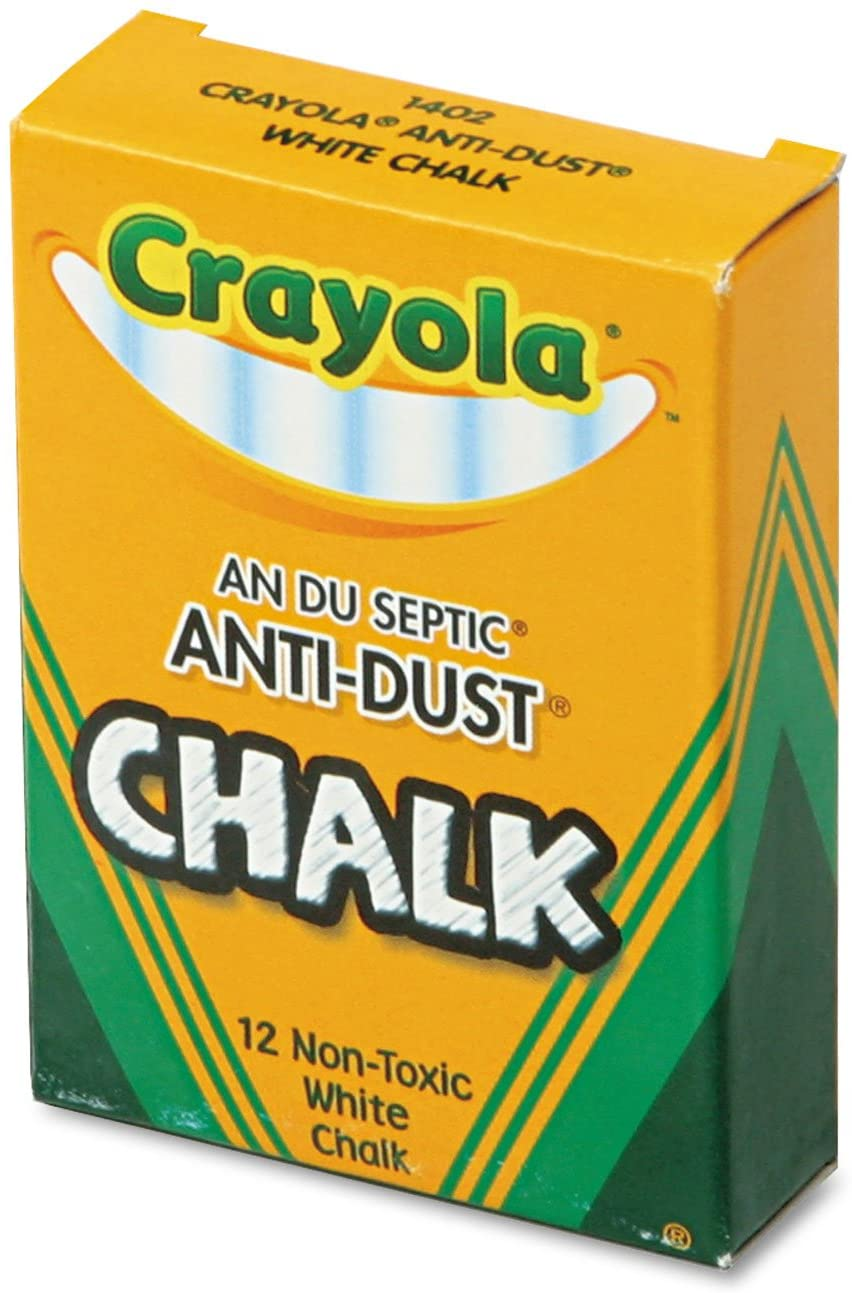 Crayola 12 Anti Dust White Chalk