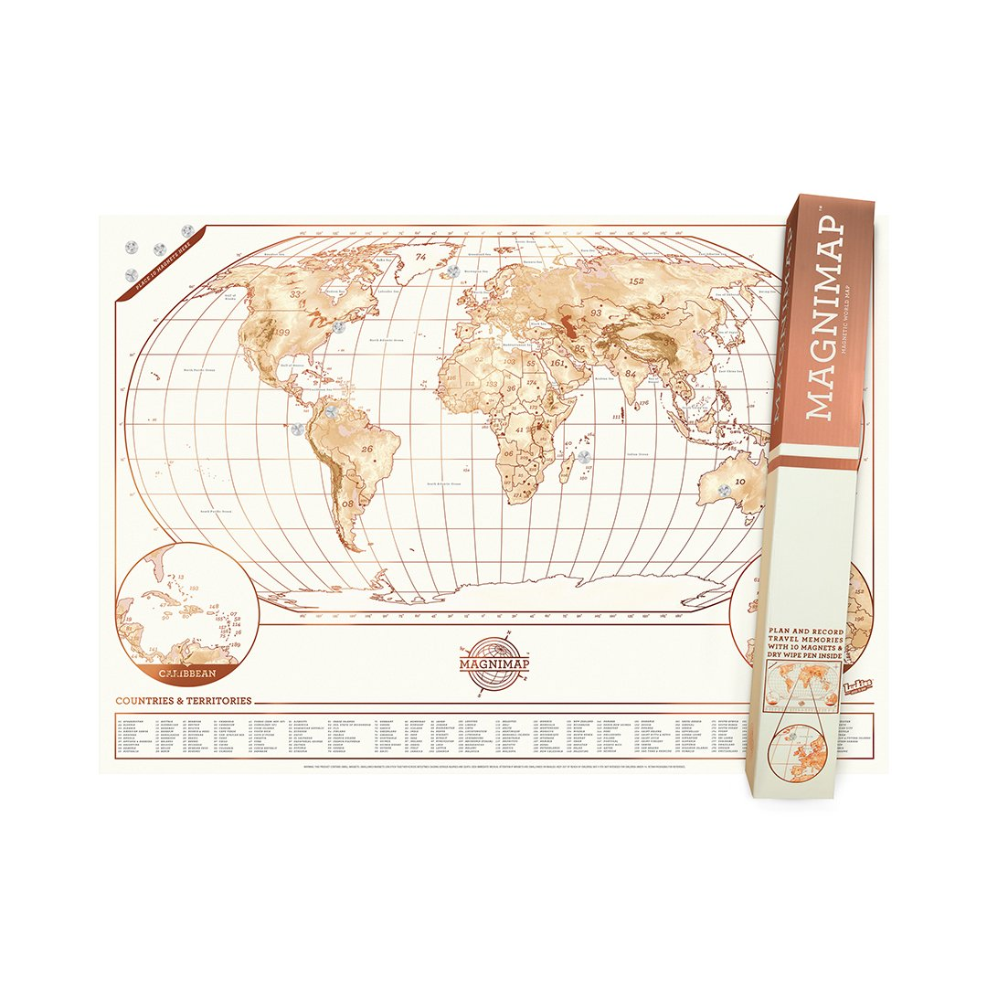 Magni-Map - Magnet Board World Map Poster
