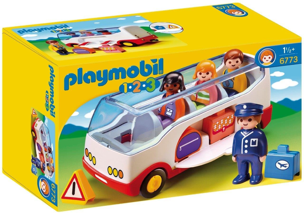 Playmobil 1.2.3 Airport Shuttle Bus with Sorting Function