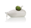 Submarine Planter Small White