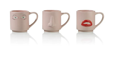 Surreal Mug Set, set of 3