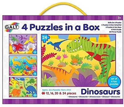 Galt 4 Puzzles in A Box - Dinosaurs