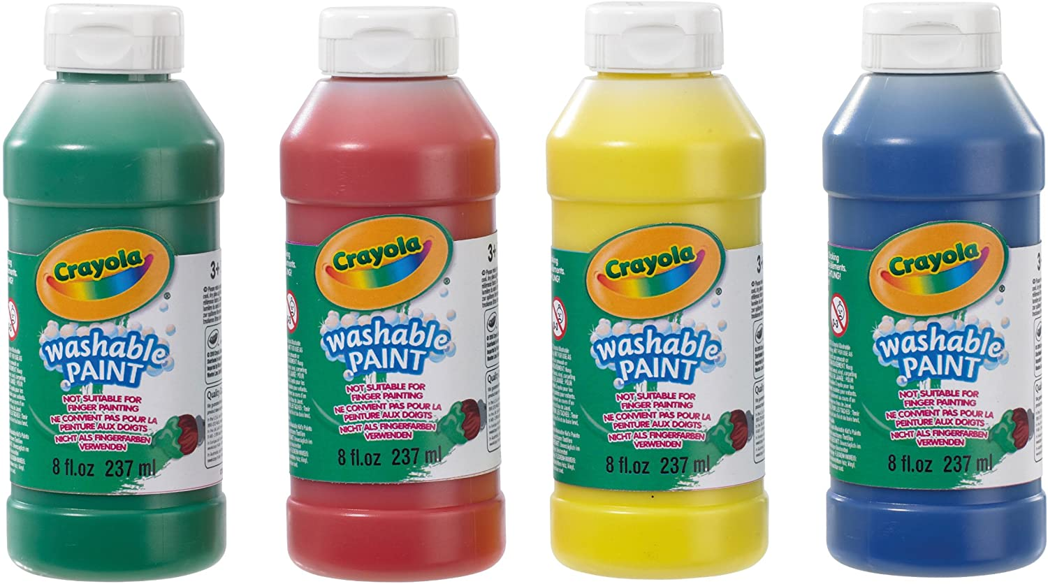 Crayola 4 Pack Washable Ready Mix Paint