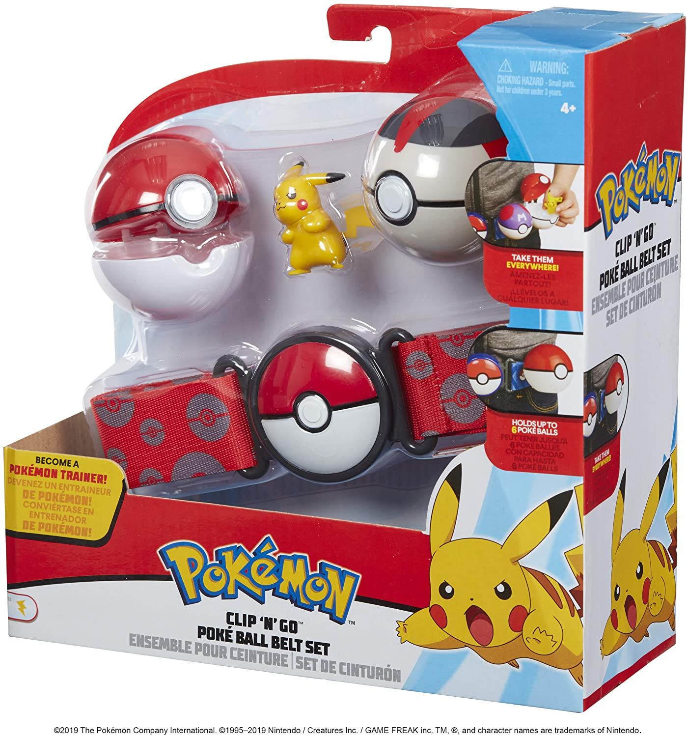 Pokemon Clip 'N' Go Poke Ball Belt Set - Pikachu