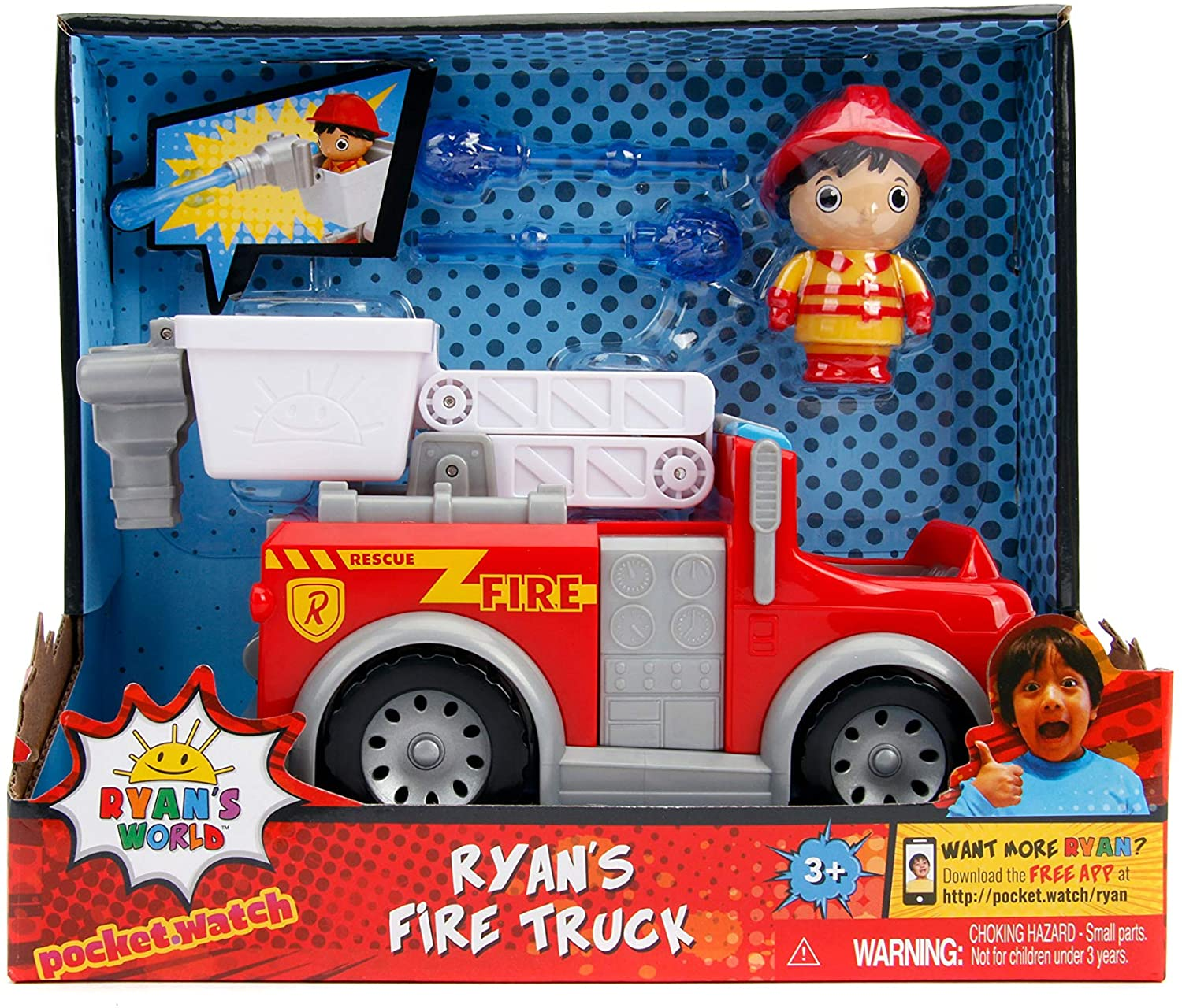 "Ryans World 6"" Ryan with Fire Engine"
