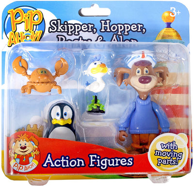 John Adams Pip Ahoy! Skipper, Hopper, Pasty and Alan Action Figures