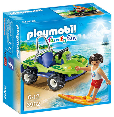 Playmobil Family Fun Surfer with Beach Quad
