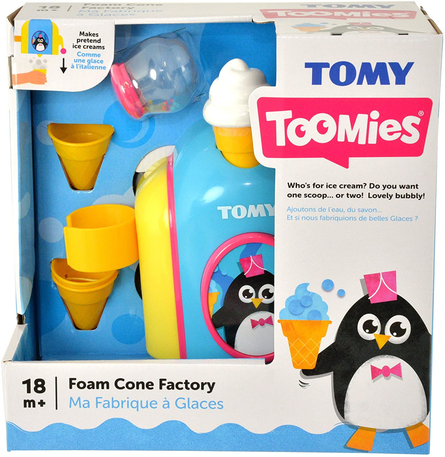 TOMY Toomies Foam Cone Factory Baby Bath Toy
