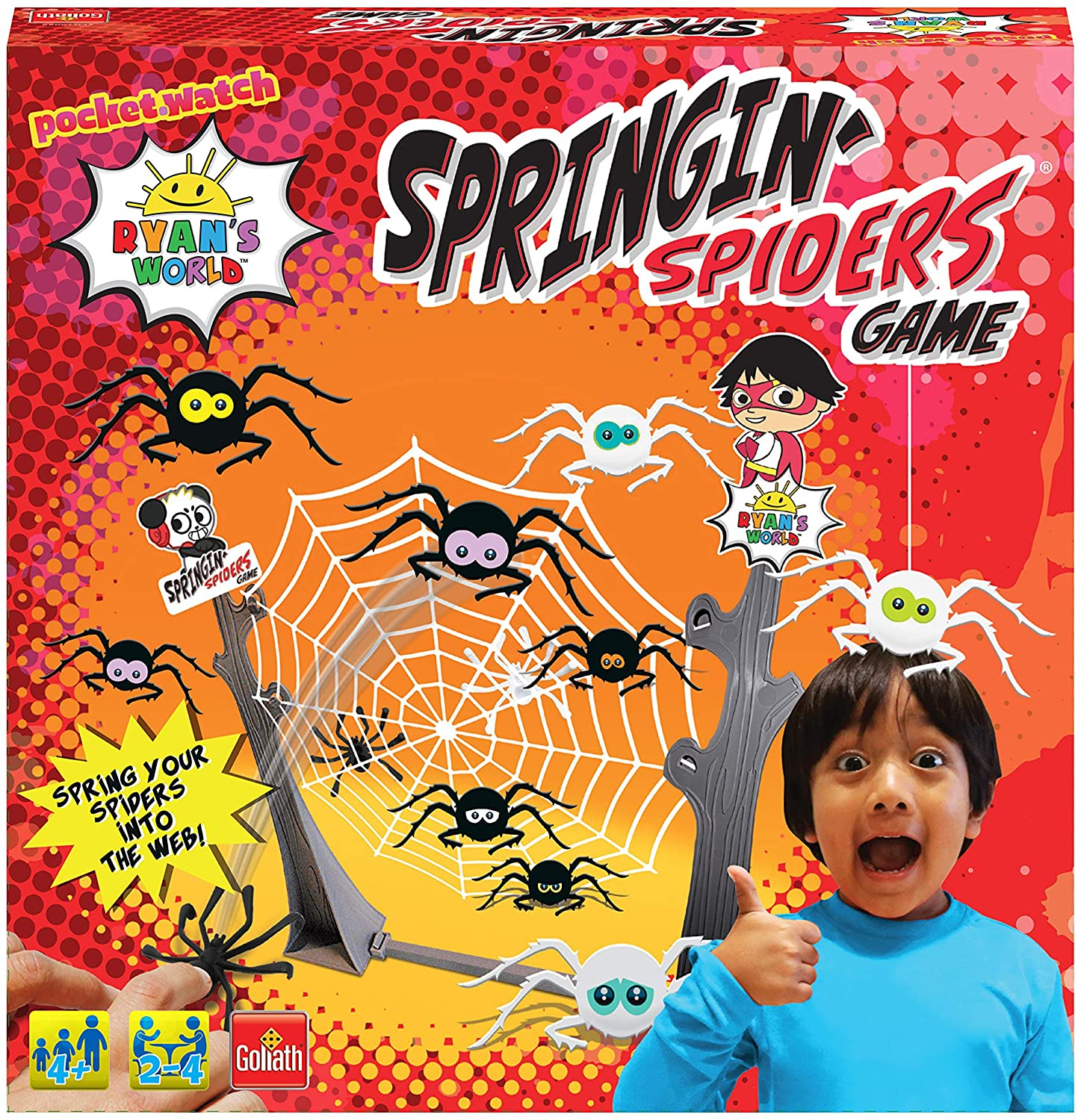 RYAN'S WORLD SPRINGING SPIDERS GAME