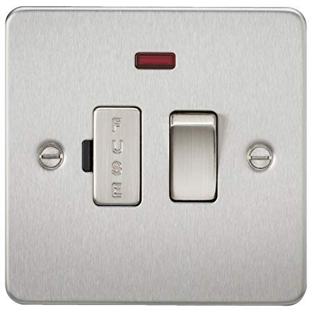 Knightsbridge SF6300NBC Screwless 13 A Switched Fused Spur Unit, Brushed Chrome