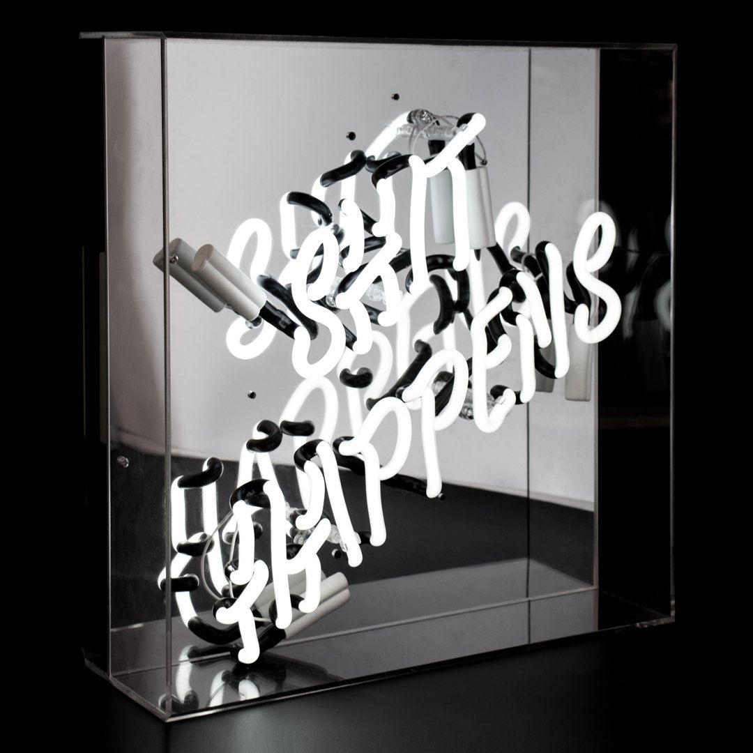 acrylic neon light  - shit happens