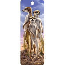 3D Bookmark - Meerkats