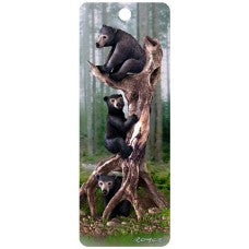 3D Bookmark - Black Bears